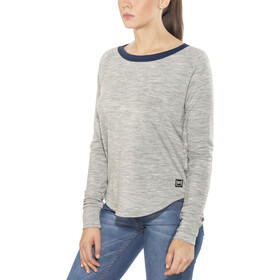 super.natural City Camiseta Mujer, ash melange/navy blazer